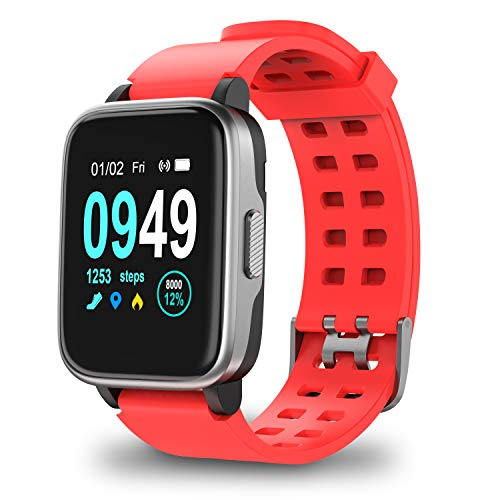 Updated 2019 Version Smart Watch for Android iOS Phone, Activity Fitness Trackers Health Exercise Watches with Heart Rate, Sleep Monitor and Calorie Compatible with Samsung Apple iPhone for Men Women (Heart Rate Monitor Tomtom)