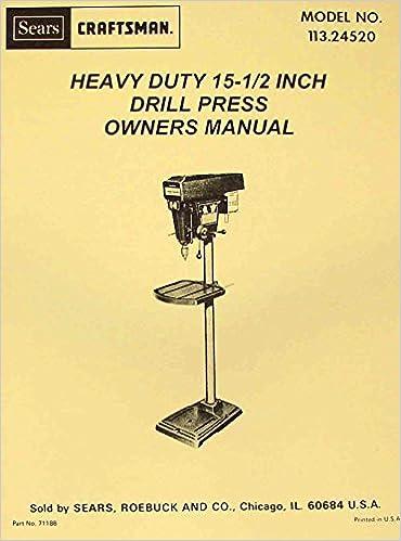 craftsman manual drill press