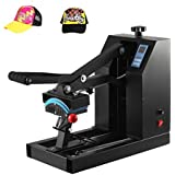 Happybuy Heat Press 7x3.75Inch Curved element Hat Press Clamshell Design Heat Press for Hats Rigid Steel Frame No Stick Digital LCD Timer and Temperature Control (7x3.75Inch Clamshell Design)