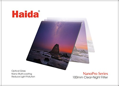 Haida 100mm Clear-Night Filter NanoPro MC Light Pollution Reduction for Sky / Star 100 x 100