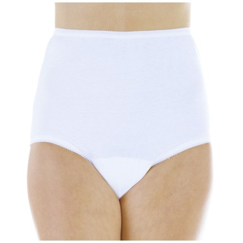 Wearever (3-Pack) Women's White Cotton Comfort Regular Absorbency (0.5 Cup) Incontinence Panties 3X (Fits Hip Sizes: 49-51