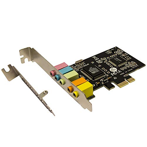 PCIe Sound Card, 5.1 Internal Sound Card for PC Windows 10 with Low Profile Bracket, 3D Stereo PCI-e Audio Card, CMI8738 Chip 32/64 Bit Sound Card PCI Express Adapter