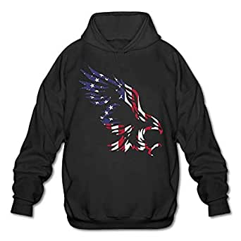 American Eagle Mens Blank Hooded Sweatshirt Pullover Hoodie