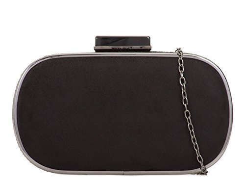 Hand Black Dressy Bags Party Evening Occasion Prom J37 Case Suede Faux Hard Womens Clutch Ladies 1wv6Rpqa