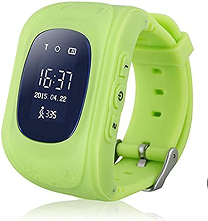 TURNMEON Smart Watch for Kids Children Smartwatch Phone with SIM Calls Anti-lost GPS Tracker SOS GPRS Bracelet Parent Control for Smartphone(Green)