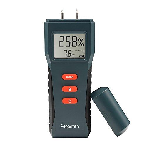 Wood Moisture Meter, Digital LCD Moisture, Handheld Moisture Detector with 2 Spare Sensor Pins for Wood, Walls, Concrete, Plaster, Cement
