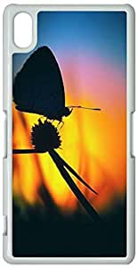 Bubbly Stars Sony Xperia Z2 Case, Sony Xperia Z2 Cases Hard Shell White Cover Skin Cases Chevron Retro Vintage Tribal Nebula Pattern Cases