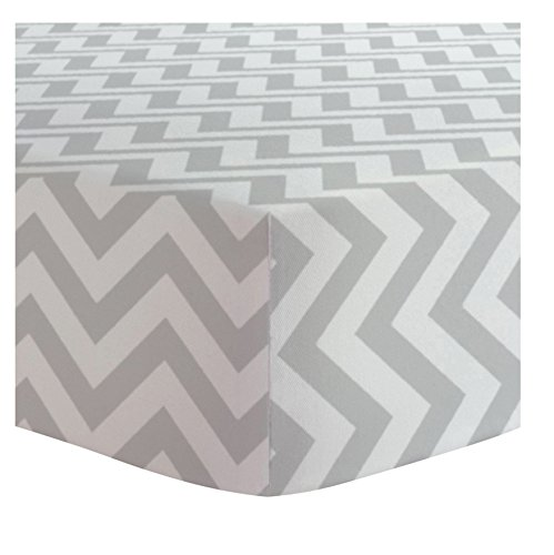 Kushies Baby Terry Changing Pad Cover, Grey Chevron