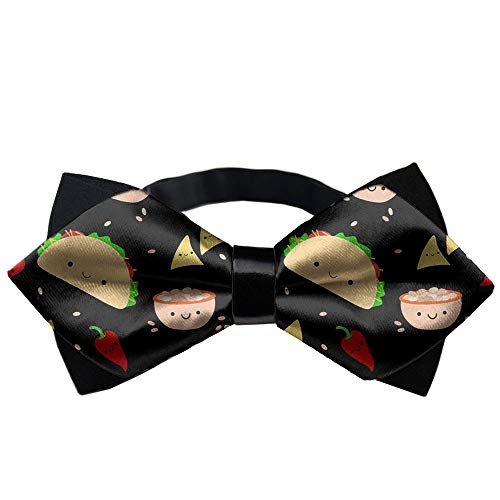 JZDACH Classic Pre-Tied Bow Tie Formal Tuxedo for Adults & Children (Taco Tuesday Party)