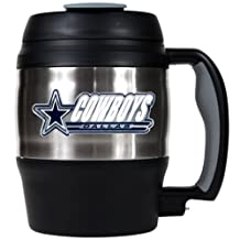 Great American Products NFL Dallas Cowboys 52-Ounce Stainless Steel Macho Travel Mug with Bottle Opener