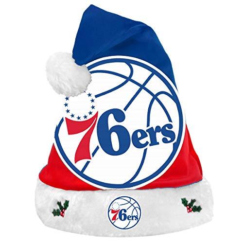 Forever Collectibles Philadelphia 76ers 2018 NBA Basic Logo Plush Christmas Santa Hat