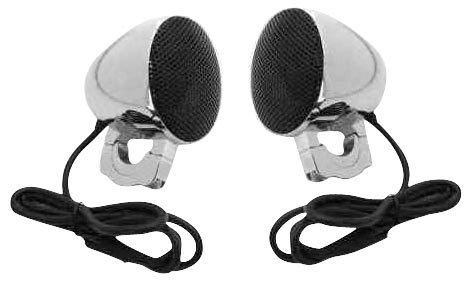 Cycle Sounds 3 in. All Black Premium Speaker System for Harley Davidson (exc. F - One Size