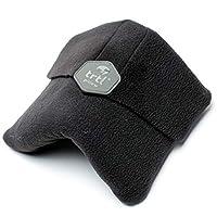 Trtl, científicamente comprobado, soporte de cuello súper blando, almohada de viaje, máquina lavable, negro