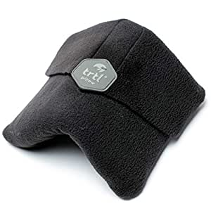 Trtl Scientifically Proven Super Soft Neck Support Travel Pillow-Machine Washable Black