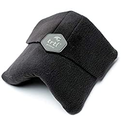 Trtl Pillow - Scientifically Proven Super Soft Neck Support Travel Pillow – Machine Washable (Black)