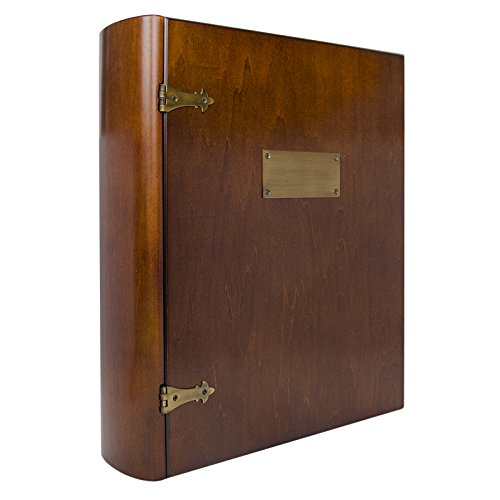 Large Exclusive Wood Treasure Box Photo Organizer and Memory Box with Brass Latch - Dimensions 12.0
