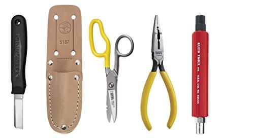 Klein Tools 46039+VDV026-049+68005 Telco Cable Splicer's 5Pc Installation Kit