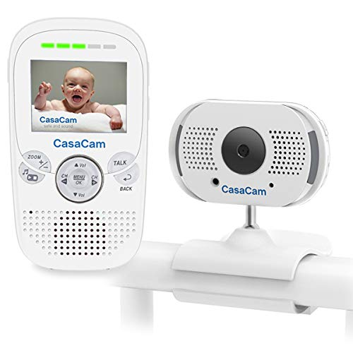 CasaCam BM100 Video Baby Monitor with Digital ClipCam, Two-Way Audio, Automatic Night Vision, Temperature Monitoring, Night Light and Lullabies For Sale