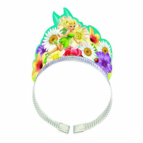[Disney Tinkerbell Tiara Headband Birthday Party Wearable Accessory Favour (8 Pack), Multi Color, 8