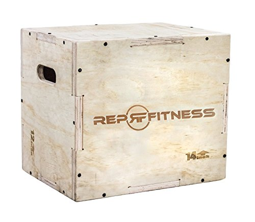 Rep 3 in 1 Wood Plyometric Box for Jump Training and Conditioning 24/20/16