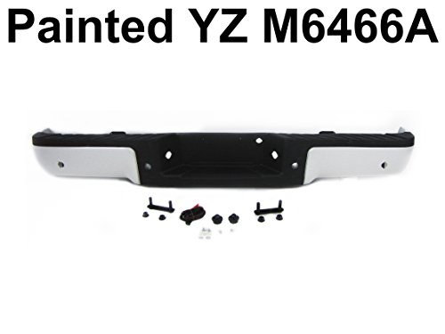 REAR BUMPER PAINTED YZ M6466A OXFORD WHITE FULL ASSY WITH SENSOR HOLE - Ford Aftermarket Bumpers