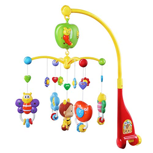 (GrowthPic Musical Mobile Baby Crib Mobile with Hanging Rotating Toys and Music)