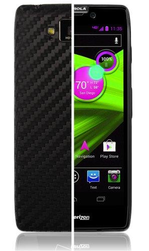 Motorola Droid Razr Maxx HD Screen Protector + Carbon Fiber Full Body, Skinomi TechSkin Carbon Fiber Skin for Motorola Droid Razr Maxx HD with Anti-Bubble Clear Film Screen