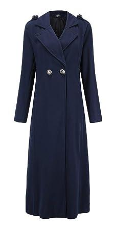Langer Mantel mit Reverskragen