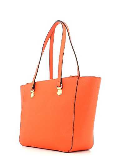 Borsa Shopping Bag M Orange Multicolore