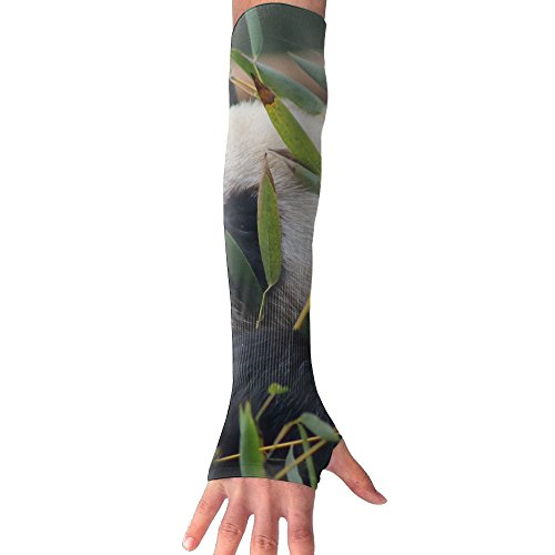 Panda Animals Leaves Zoo Long Half Finger Unisex Sun Arm Protection Sleeve Outdoor Gloves