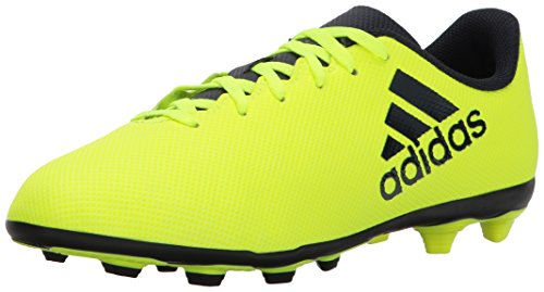adidas Boys' X 17.4 Fxg J Soccer Shoe, Solar Yellow/Legend I