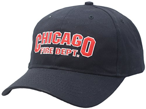 Peerless Chicago Fire Department Velcro Back Hat Block Logo As Seen on TV 11322