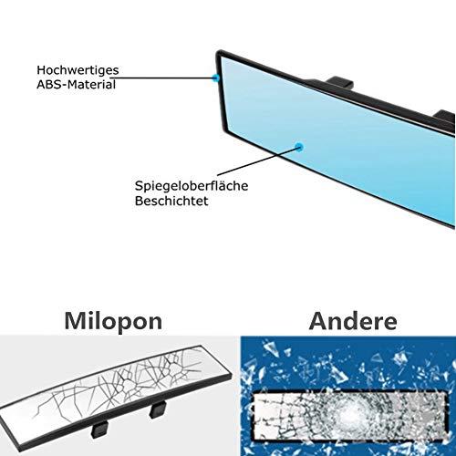 Milopon Panorama Auto Espejo retrovisor interior de espejo retrovisor UNIVERSAL Espejo Interior Auto Anti PKW LKW Blend ajuste de /ángulo espejo retrovisor