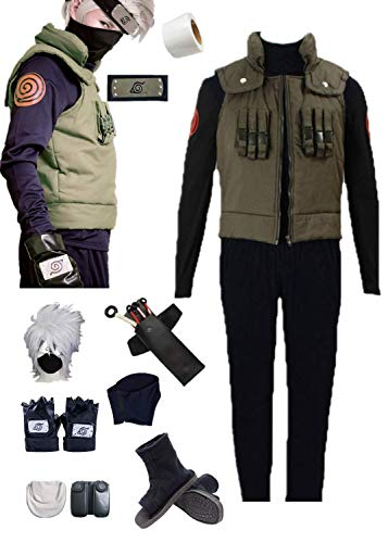 Sensei Halloween Costume (YOUYI Comic Naruto Hatake Kakashi Cosplay Costume Halloween Full Suit (Male S))