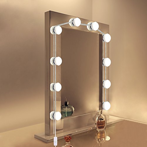 Vanity Mirror Lights, Comkes LED Makeup Vanity Light Kit with 10 ...