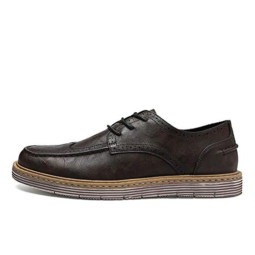 uomo New Retro da Simplicity casual amp;Baby Shoes Business Oxford Resistente Dimensione Carved EU Outsole Sunny Nero Handcrafted 41 Brogue Color Fashion all'abrasione Marrone nzxA0vIzq