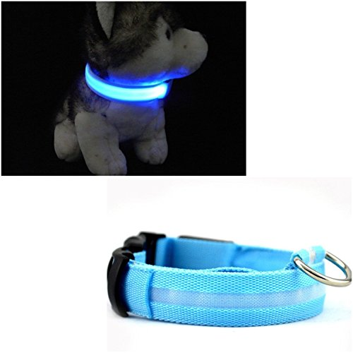 1Pc Magnificent Modern LED Pet Collar Size S Flashing Light Cat Safety Necklace Color Blue (Trailer Hitch Pet Step compare prices)