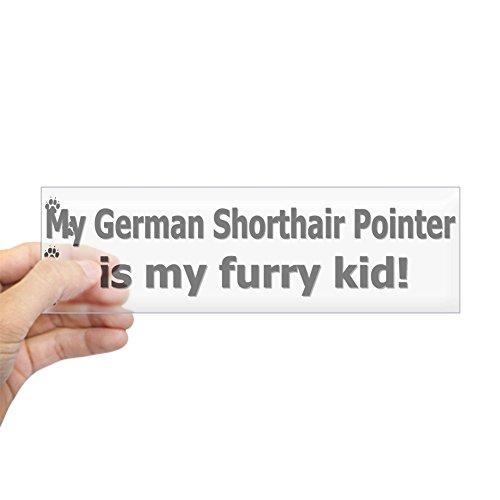 CafePress - German Shorthair Pointer Furry Kid Bumper Sticker - 10