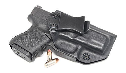 Concealment Express IWB KYDEX Holster: fits Glock 26 27 33 (Gen 1-5) (CF BLK, RH) - Inside Waistband Concealed Carry - Adj. Cant/Retention - US Made