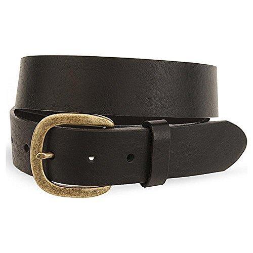 Justin Men's Basic Leather Work Belt Reg And Big Black 44