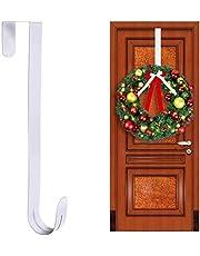 """15"""" Wreath Hanger for Front Door Christmas Decoration Metal Over The Door Single Hook-Wreath Hanger Over The Door"""