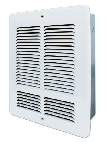 King Electric W2420-W King W2420 240-Volt 2000-Watt Electric Wall Heater, Bright White 240v Electric Baseboard Heater