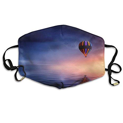 BGHER Hot Air Balloon Mens & Womens Unisex Comfortabl Anti-dust Masks by BGHER
