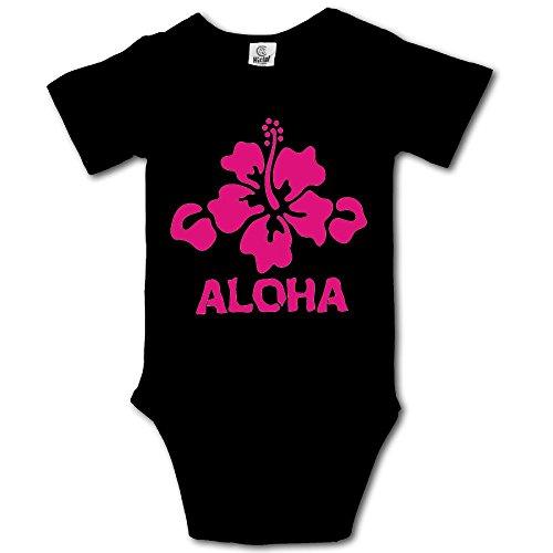 VHGJKGIN Aloha Flower Hawaiian Cute Baby Onesie Bodysuit -