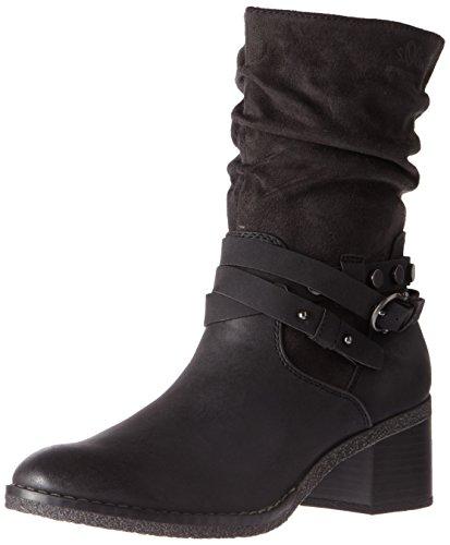 Oliver 25315 Negro Comb Mujer s Botas Black para dzwCPq5