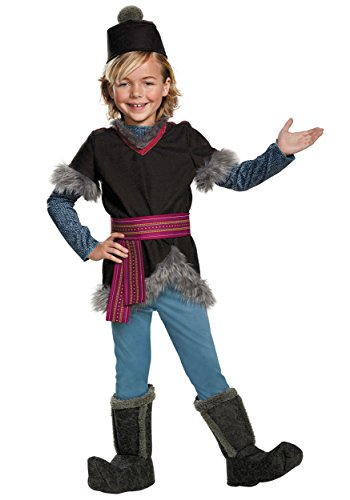 Disguise Kristoff Deluxe Child Frozen Disney Costume, Small/4-6 (Boys Frozen Costume)