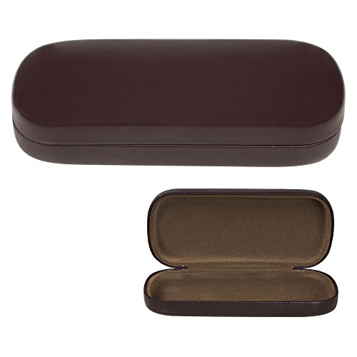 Glasses Case, Hard Shell Protects & Stores Sunglasses, Reading Eyeglasses and Most Eyewear, Suitable for Men, Women & Kids, Brown- By ()