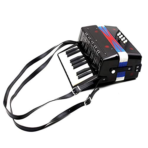 - 17-Key 8 Bass Mini Accordion Musical Toy for Educational Musical Instrument Simulation Learning Concertina Rhythm