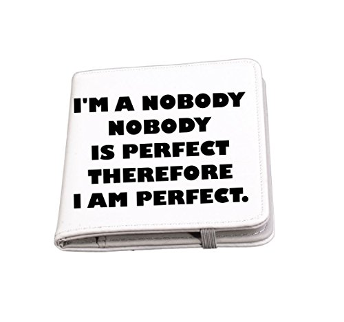 Rikki Knight I'M Nobody And Perfect Funny Quotes Passport Holder with slots for Travel documents