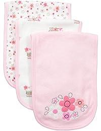 Baby Girls' 3-Pack Terry Burp Cloth